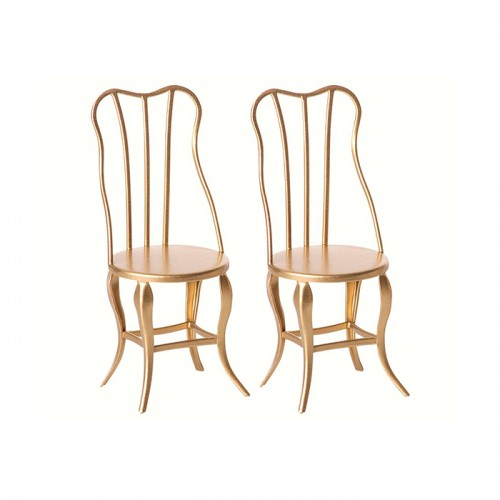 Vintage chair gold (Micro) (2u.)