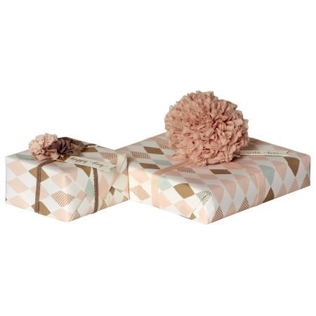 Giftwrap, Harlekin, Rose, 10 m