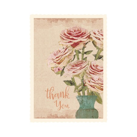Flower, Thank You, Small single card