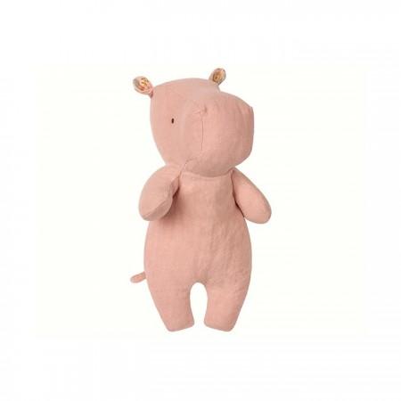 Peluche, pequeño hipopótamo, Rosa