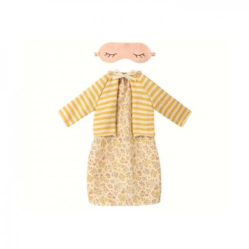 Best Friend, Night dress w. cardigan - Yellow