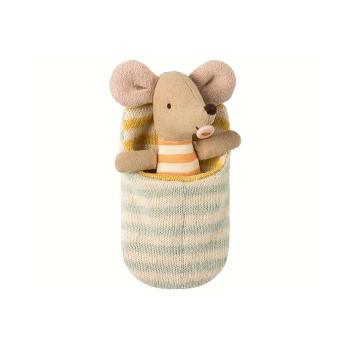Muñeco ratón, bebé en saco de dormir