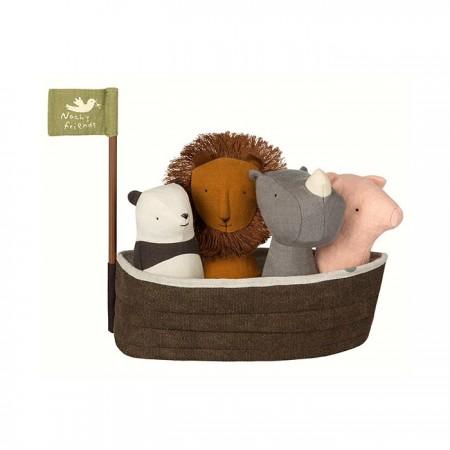 Noah`s Ark with 4 rattles